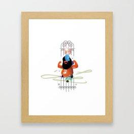 Flexin'  Framed Art Print
