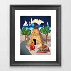 Travel Napping Framed Art Print