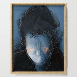 Bob Dylan portrait Serving Tray