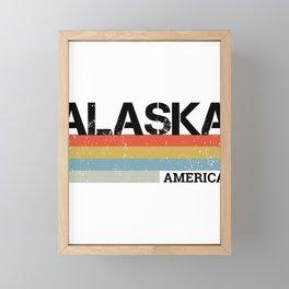 Alaska Retro Vintage Design, Gift & Souvenir For Alaskans Framed Mini Art Print