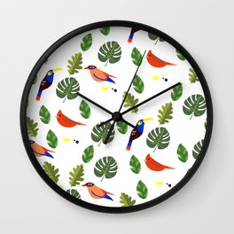 Springtime - First Birds of Spring Wall Clock