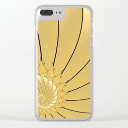 Spikey Shell Clear iPhone Case