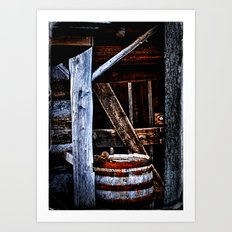 Barrel Shot Art Print