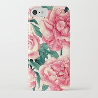 peonies iPhone & iPod Cases featuring Peonies by Lynette Sherrard Illustration and Design