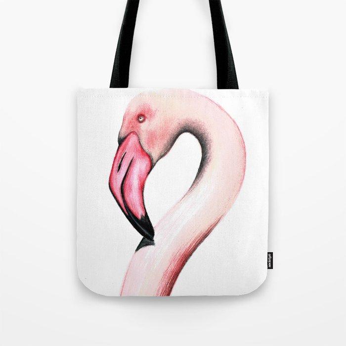Pink Flamingo Tote Bag by scarletwild