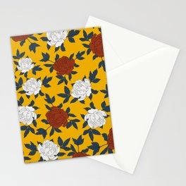 Peonies print Stationery Cards