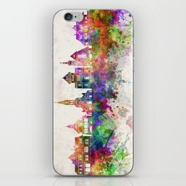 Zakopane skyline in watercolor background iPhone Skin