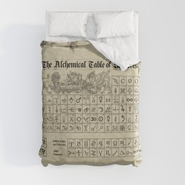 The Alchemical Table of Symbols Duvet Cover