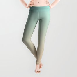 Aqua Bue and Angelskin Tropical Sand Paradise Bahamas Island Beach Leggings