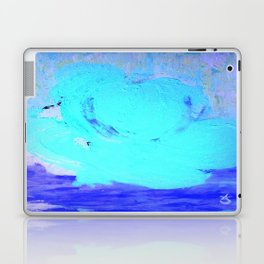 Neon Winter Rose, Abstract In Nature, Ice Blue Laptop & iPad Skin