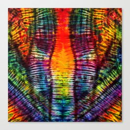 Moving on Up Tie Dye Canvas Print
