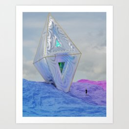 CR@SH_/LAND3D Art Print