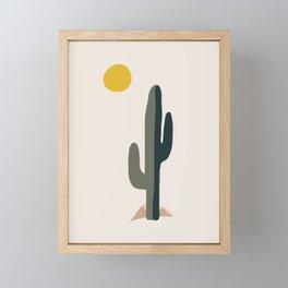Cactus and the Rising Sun Framed Mini Art Print