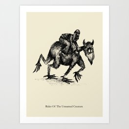 Rider Of The Unnamed Creature Art Print