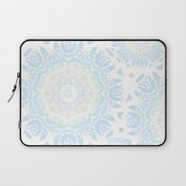 light blue mandalas pattern Laptop Sleeve