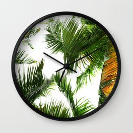 the tropical coconut is here Wall Clock