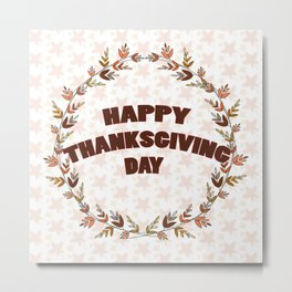 Greating card on Thanksgiving day Metal Print