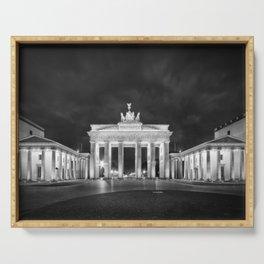 BERLIN Brandenburg Gate | Monochrome Serving Tray