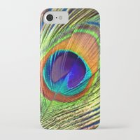 peacock feather iPhone & iPod Cases featuring peacock feather by mark ashkenazi