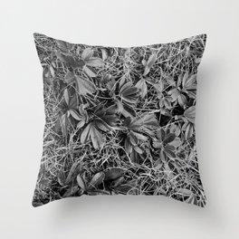 B&W Autumn Turf Throw Pillow