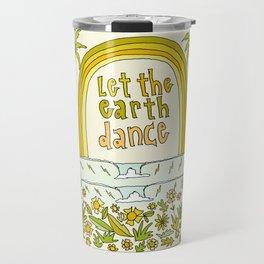 let the earth dance // retro surf art by surfy birdy Travel Mug