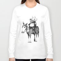 cowboy Long Sleeve T-shirts featuring Cowboy by Chimi