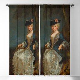 """Antoine Watteau """"Retour de Chasse: Portrait of Marie-Louise Sirois"""" Blackout Curtain"""