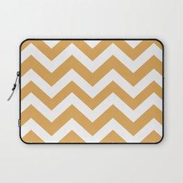 Sunray - brown color - Zigzag Chevron Pattern Laptop Sleeve