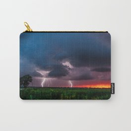 Lightning Bugs - Fireflies Whirl Around During Summer Storm in Oklahoma Carry-All Pouch