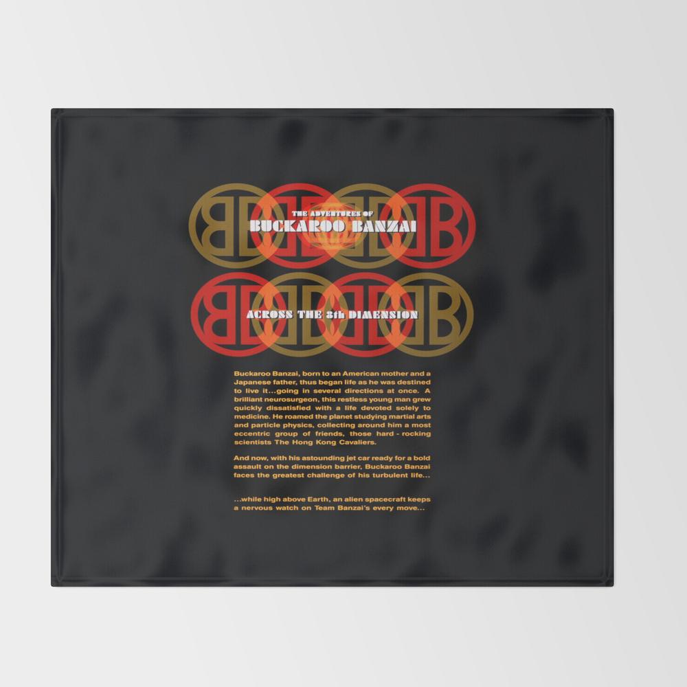 The Adventures Of Buckaroo Banzai Across The 8th D… Throw Blanket BLK8738589
