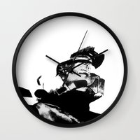 master chief Wall Clocks featuring Master Chief by drass