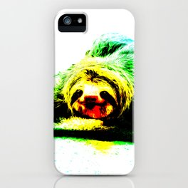 A Smiling Sloth II iPhone Case