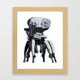 Brainbot White Edition Framed Art Print