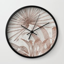 Tropical Plant Wall Clock