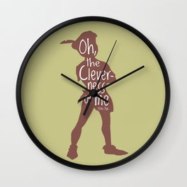 Oh the Cleverness of Me - Peter Pan Inspired Art Print Wall Clock