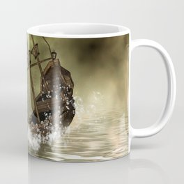 Awesome shipwreck in the sunset Coffee Mug