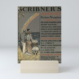 scribners august   fiction number. 1899  oude poster Mini Art Print