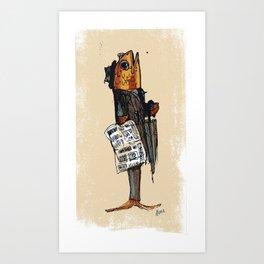 Business Fish Art Print
