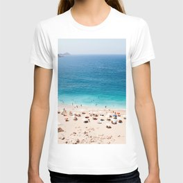 Beach, Coastal, Ocean, Sea, Water, Nature, Modern, Minimal, Interior, Wall art T-shirt
