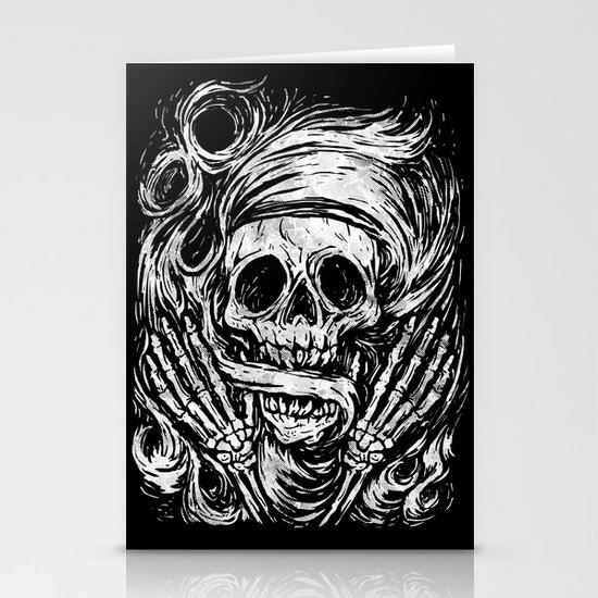 flowing ashes Stationery Cards