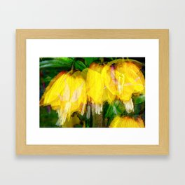 Ode to Spring - Floral Photo Collage Framed Art Print