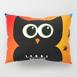 Black Owl on Moon Pillow Sham