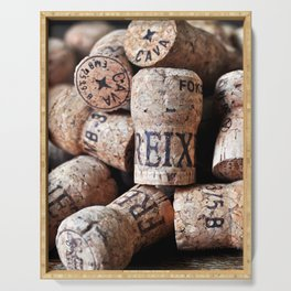 Cork of Champagne Serving Tray