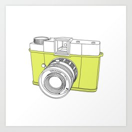 Diana F+ Glow - Plastic Analogue Camera Art Print