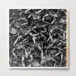 Blue Crabs Metal Print