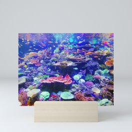 Vibrant Colorful Tropical Fish Aquarium Mini Art Print