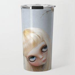 Erregiro Blythe Custom Doll, The White Horse Travel Mug