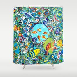 Fish Party Shower Curtain