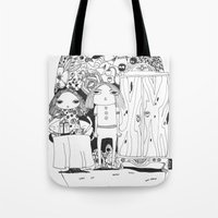 couple Tote Bags featuring Couple by Mono Ahn