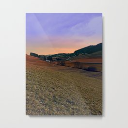Beautiful valley scenery in the evening | landscape photography Metal Print
